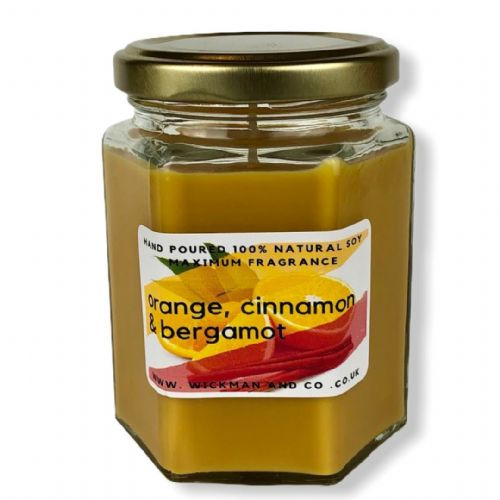 Orange, Cinnamon & Bergamot Soy Wax Candle